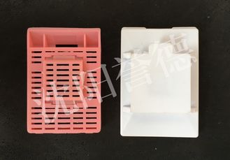 China PP POM Tissue Processing Cassettes , Multi Chambers Histology Cassette Flow Through Strip Holes supplier