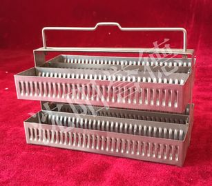 China Performance Pathology Slide Staining Rack 60 Slide Capacity With Folding Handle supplier