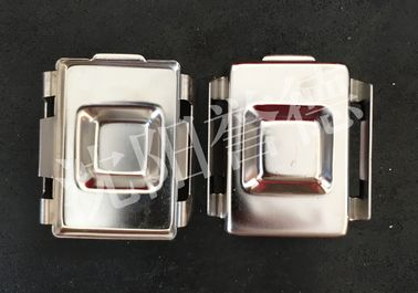 China Stainless Steel Embedding Cassette Histology Tissue Base Molds With Subtle Polishing distributor