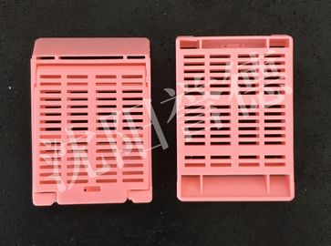 China Strip Holes Pathology Embedding Cassette With Four Square Compartments distributor