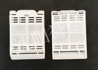 China White Color Tissue Embedding Cassette Square Hole For Hold Biopsy Specimen Safely factory