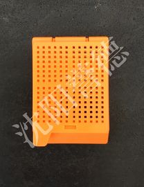 China Biopsy Square Holes Orange Embedding Cassettes , Tissue Embedding Molds factory