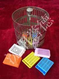 China Pathology Tissue Processing Basket 18 Cassettes With Stainless Steel Material distributor