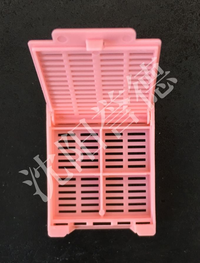 Pink Tissue Embedding Cassettes Multi Compartments For Hospital Laboratory Consumable